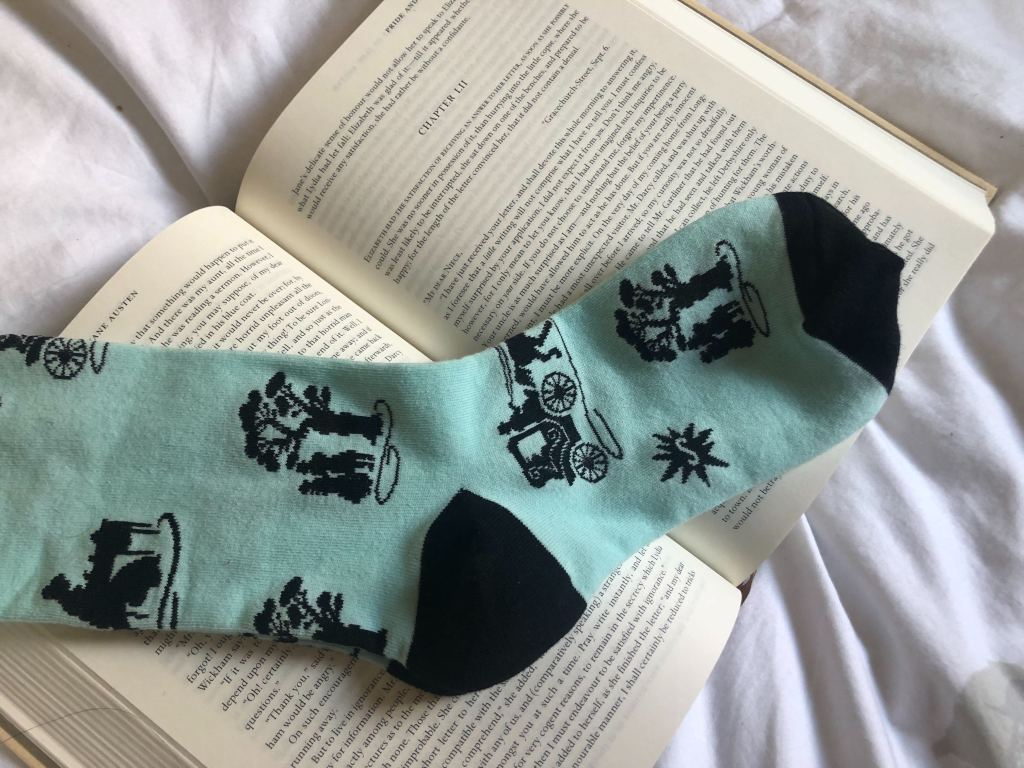 Photo of book themed socks from Sock It To Me