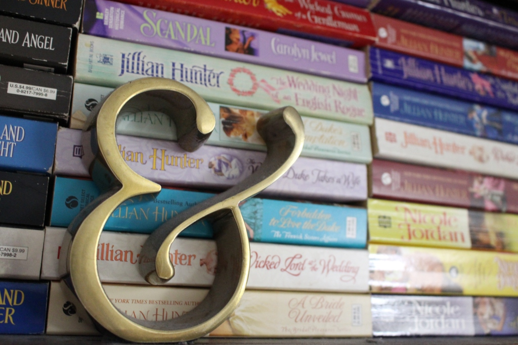 books stacked on shelf