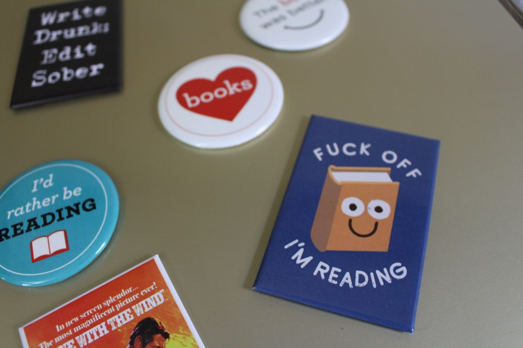 Photo of book themed pins
