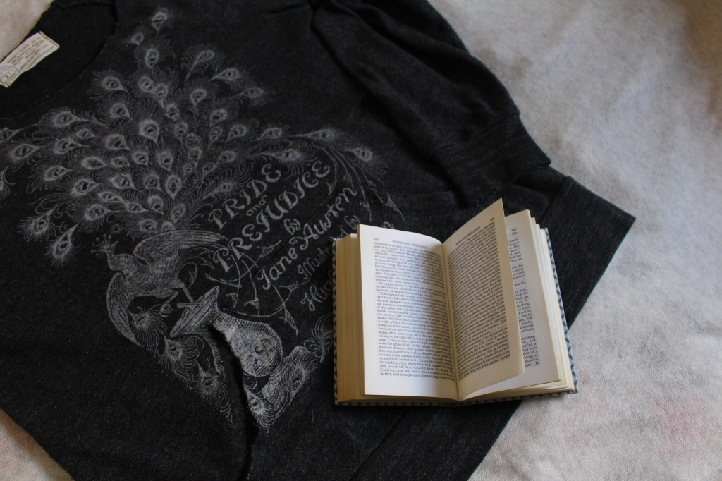 Photo of Jane Austen quote t-shirt form Out of Print