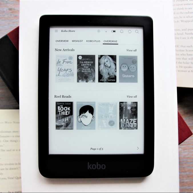 Overdrive on E-Reader