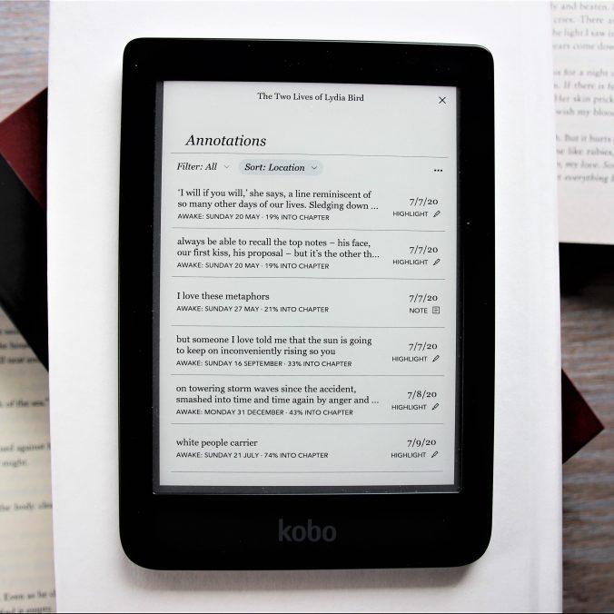 Notes on Kobo e-Reader