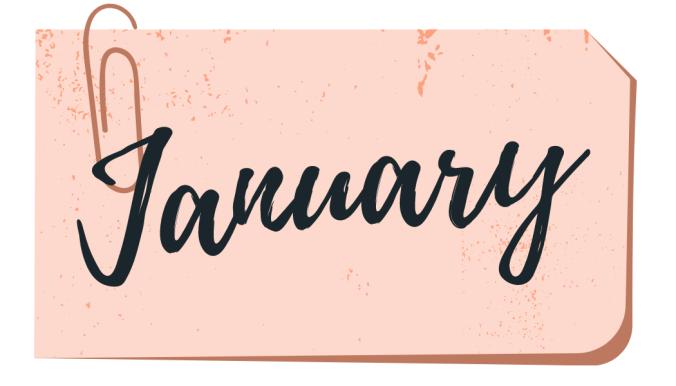 january month header