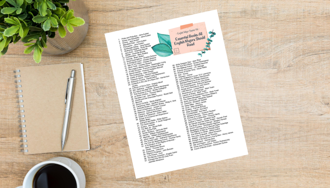 Checklist of Must Read Books for English Majors