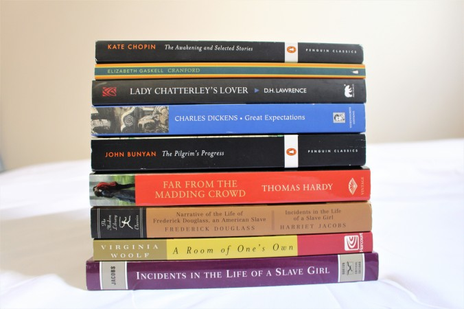 Picture of classic books english majors needs to read