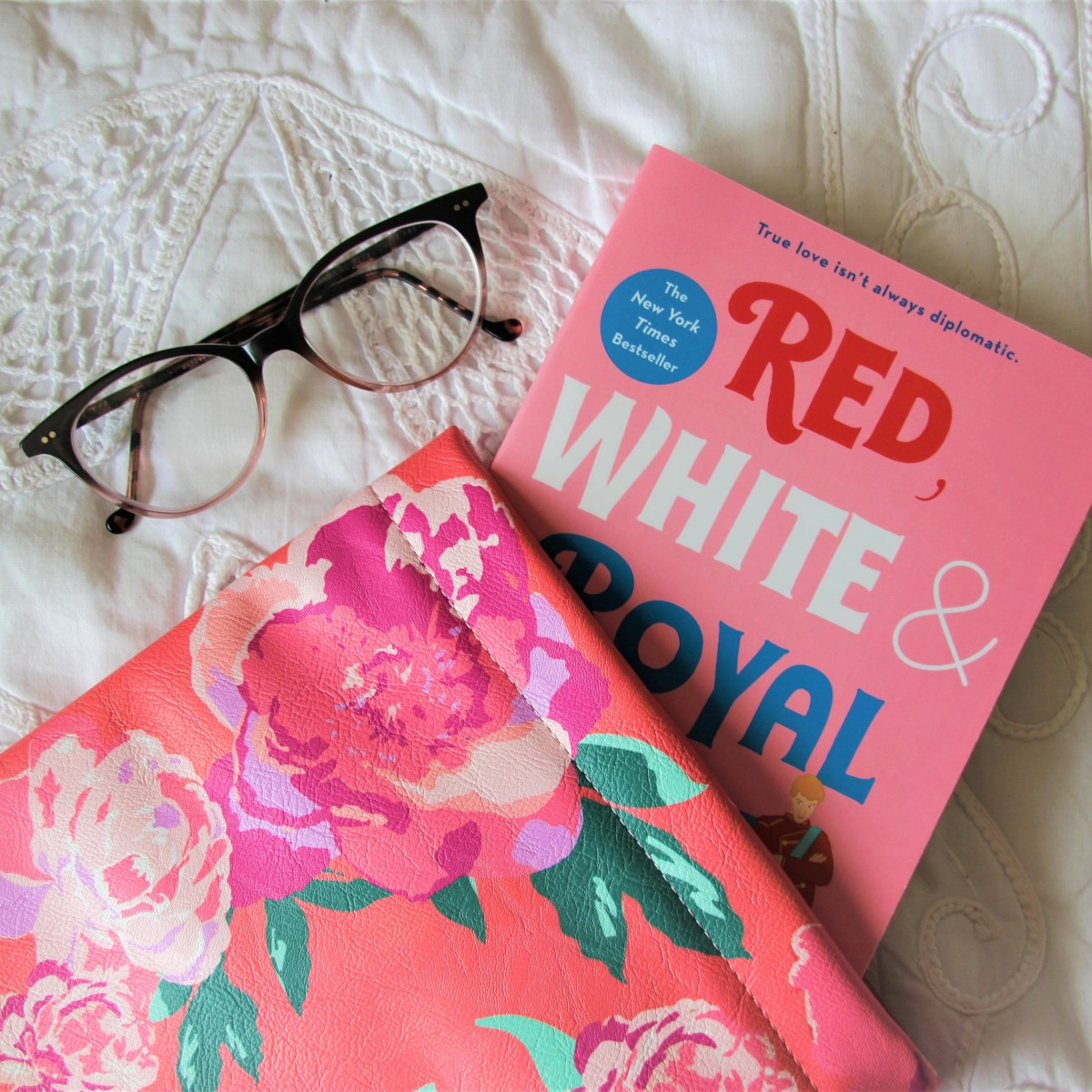 Red, White & Royal Blue Casey McQuiston Book Cover and Sleeve