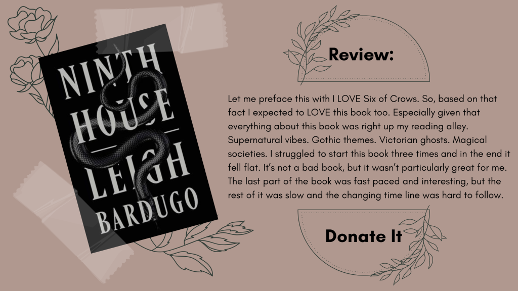 Ninth House Leigh Bardugo Review