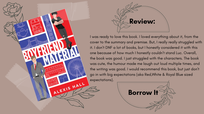 Boyfriend Material Alexis Hall Review