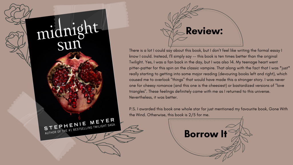 Midnight Sun by Stephenie Meyer Review