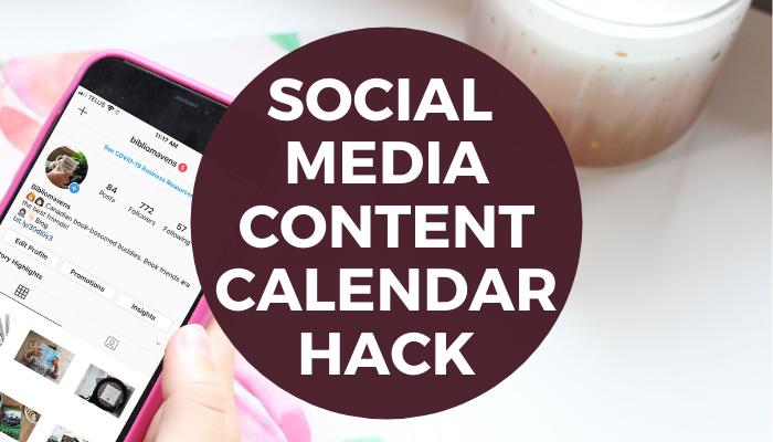 Social Media Content Calendar Hack