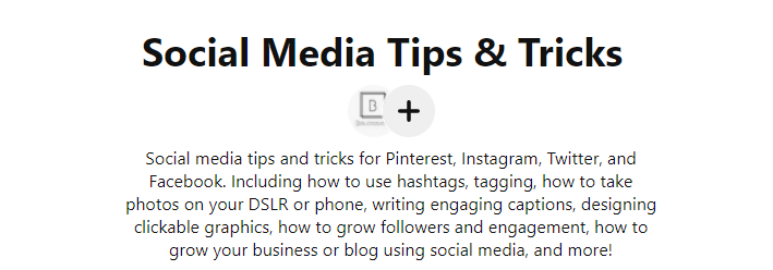 Description SEO for Boards on Pinterest