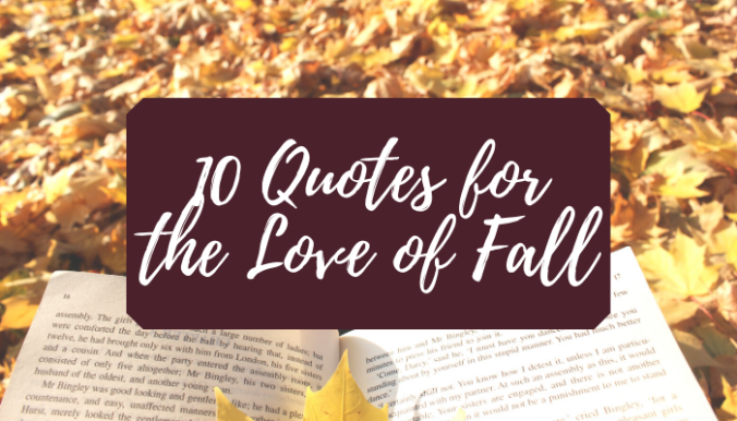 10 Book Quotes About Fall