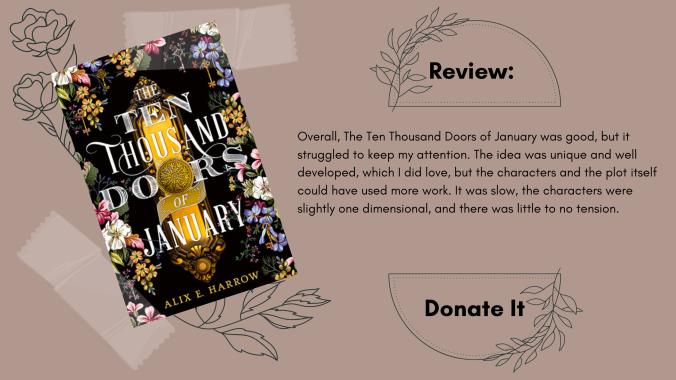 Ten Thousand Doors of January Alix E. Harrow Book Review