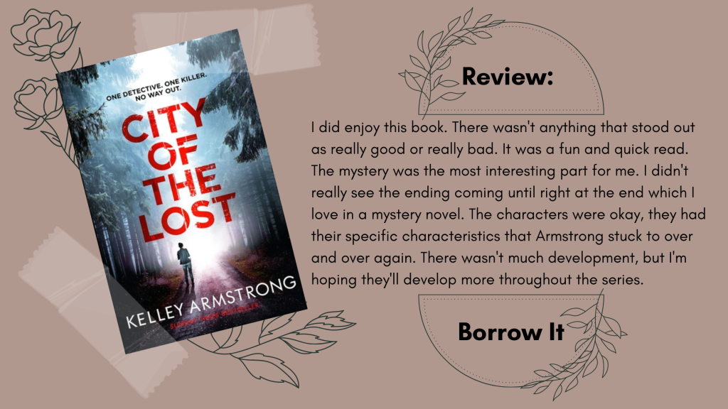 The City of the Lost Kelley Armstrong Book Review