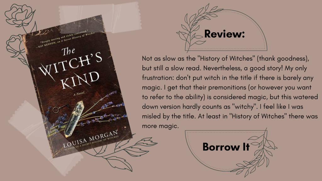 The Witch's Kind by Louisa Morgan Book Review