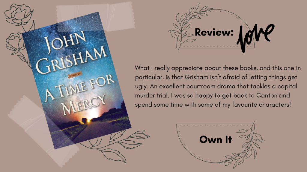A Time for Mercy John Grisham Book Review