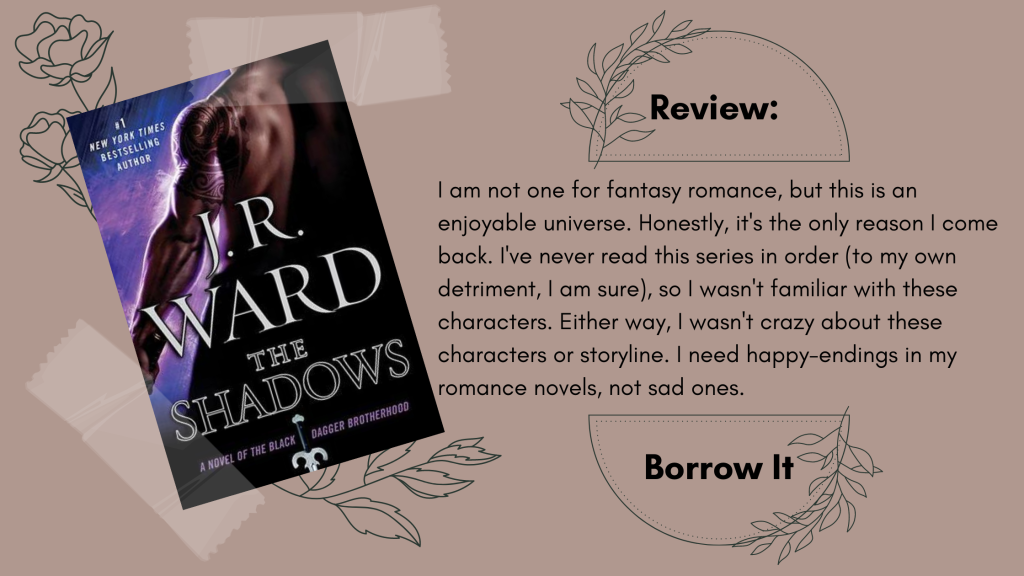 The Shadows by J.R. Ward Book Review