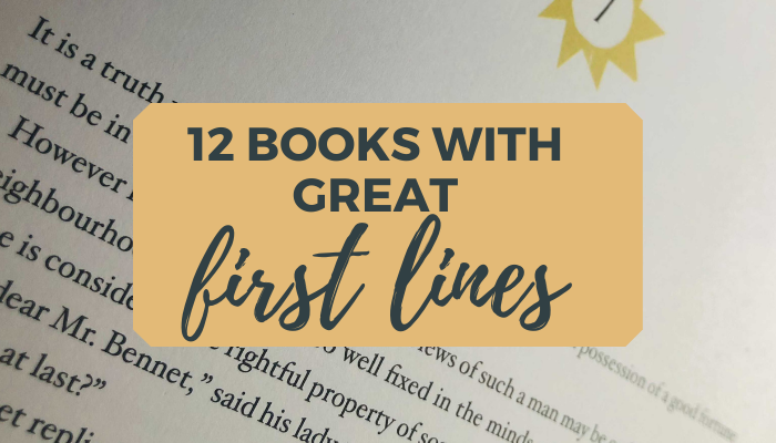 12 books with great first lines